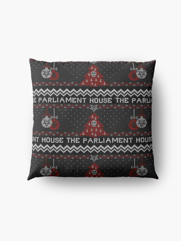 Alternate view of The Parliament House Ugly Sweater  Floor Pillow