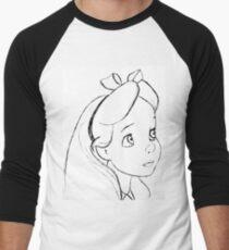 Alice Black and White Men's Baseball ¾ T-Shirt