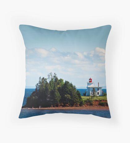 Blockhouse Point Lighthouse, Prince Edward Island Throw Pillow