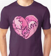 Camiseta ajustada Loveasaurus