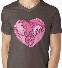 Loveasaurus Men's V-Neck T-Shirt