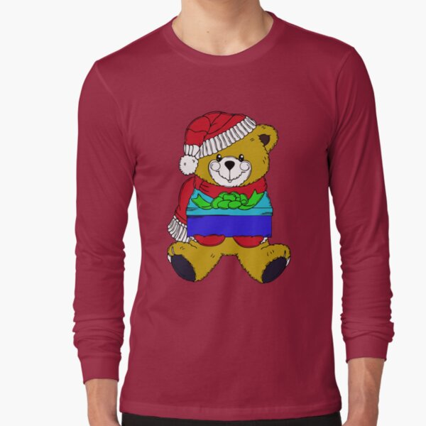 Christmas Teddy Bearing Gifts Long Sleeve T-Shirt