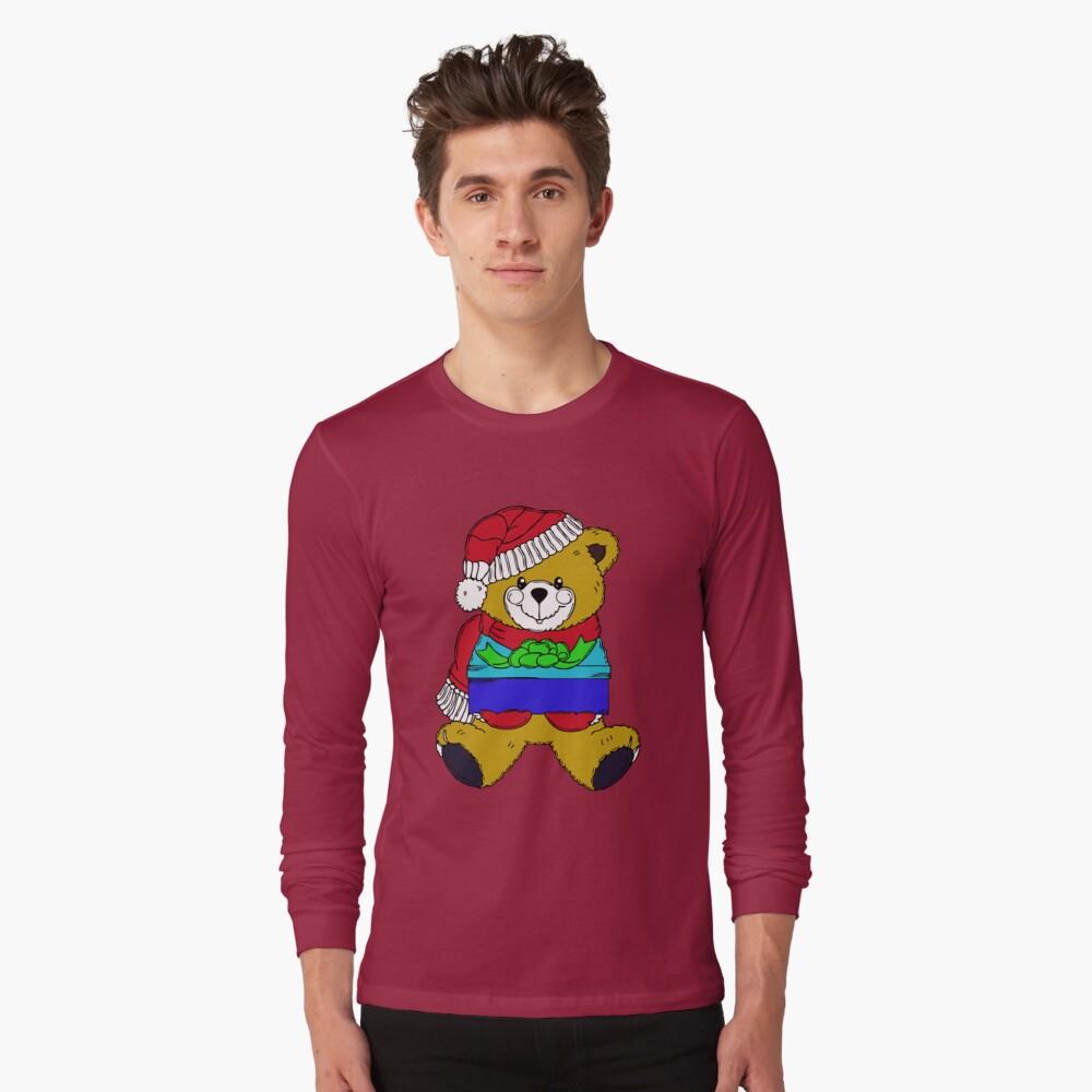 Christmas Teddy Bearing Gifts Long Sleeve T-Shirt