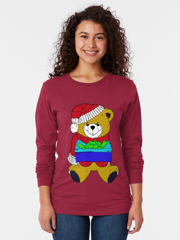 Alternate view of Christmas Teddy Bearing Gifts Long Sleeve T-Shirt