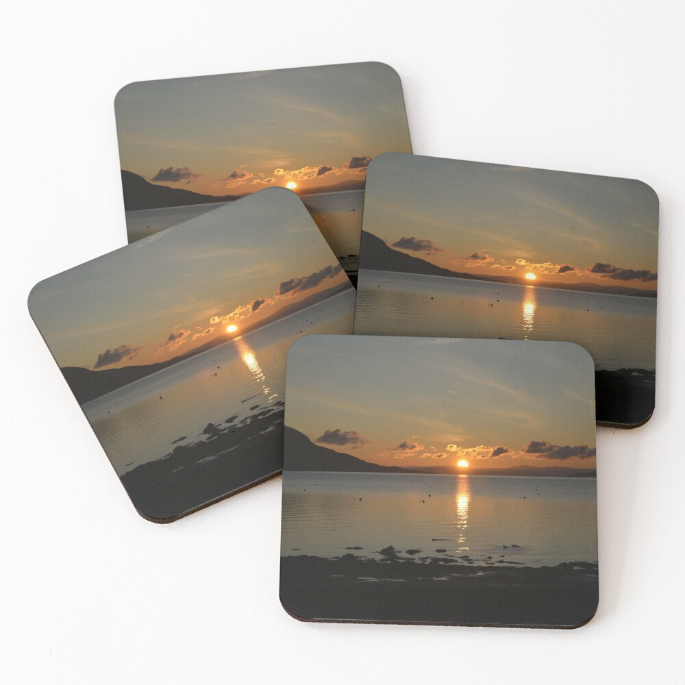 Sunrise Holy Isle Arran Coasters (Set of 4)
