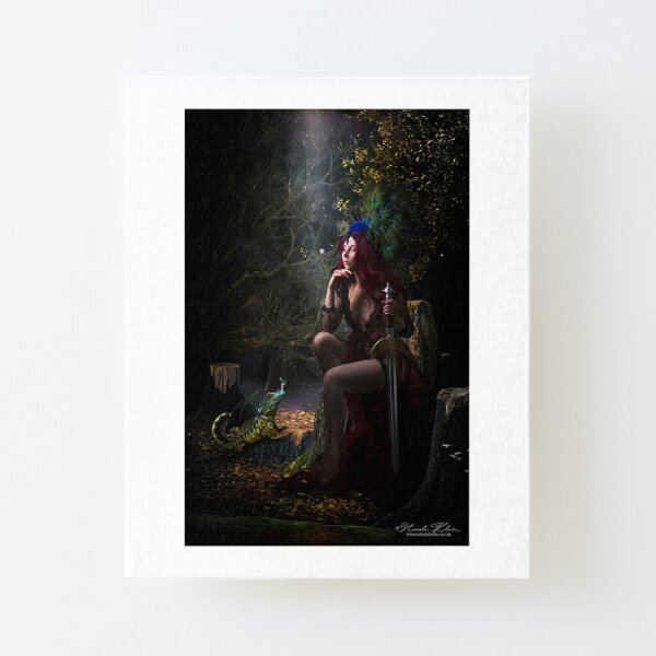 Under the Moon Canvas Mounted Print