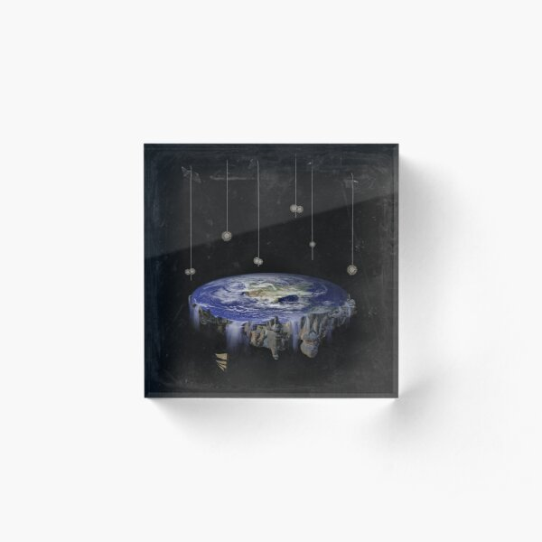 Flat Earth Acrylic Block