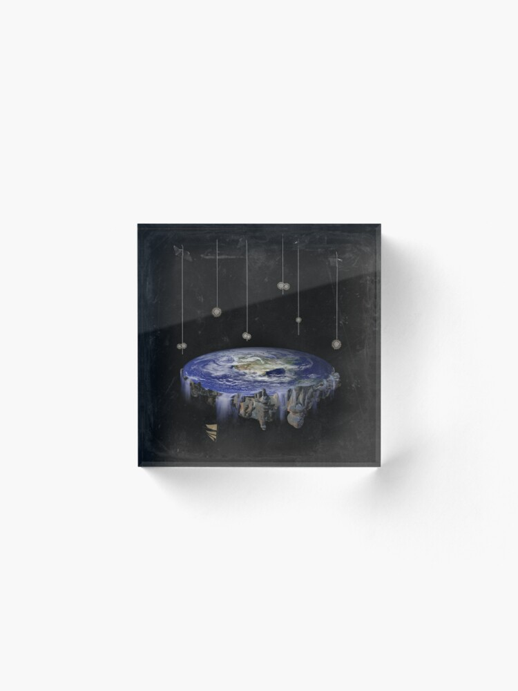 Alternate view of Flat Earth Acrylic Block