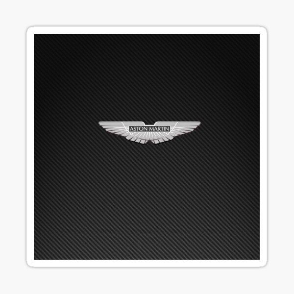 Aston Martin logo on carbon background Sticker