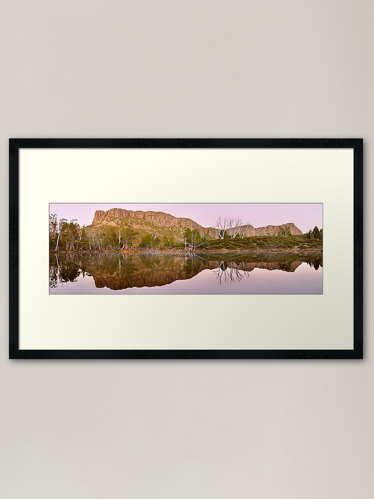 Alternate view of Pre-dawn Glow, Walls of Jerusalem, Tasmania, Australia Framed Art Print