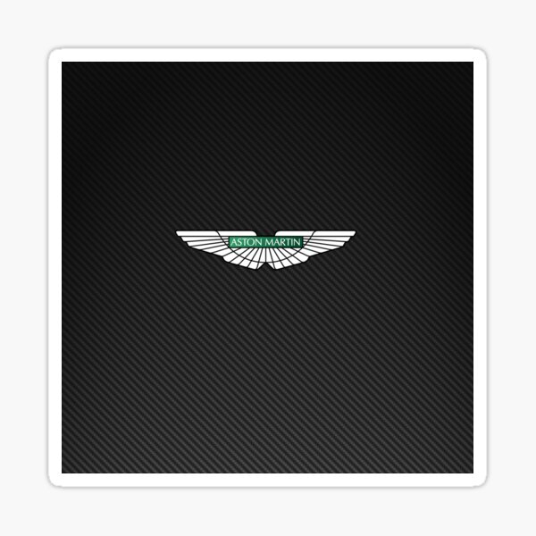 Aston Martin logo on carbon background Sticker