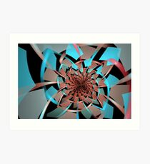 Portals Ruffled Tiles Art Print