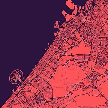 Dubai Map by duzhd