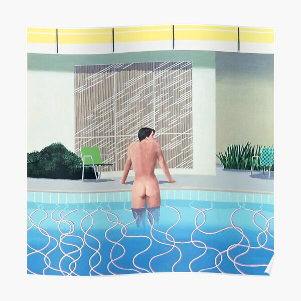 man and pool Poster