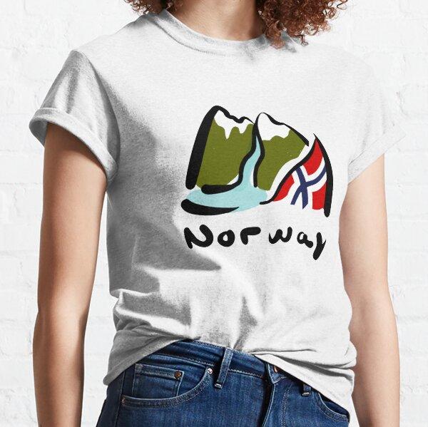 Norway Flag design | Fjord illustration Classic T-Shirt