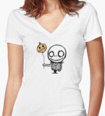 mini jacks nightmare Women's Fitted V-Neck T-Shirt