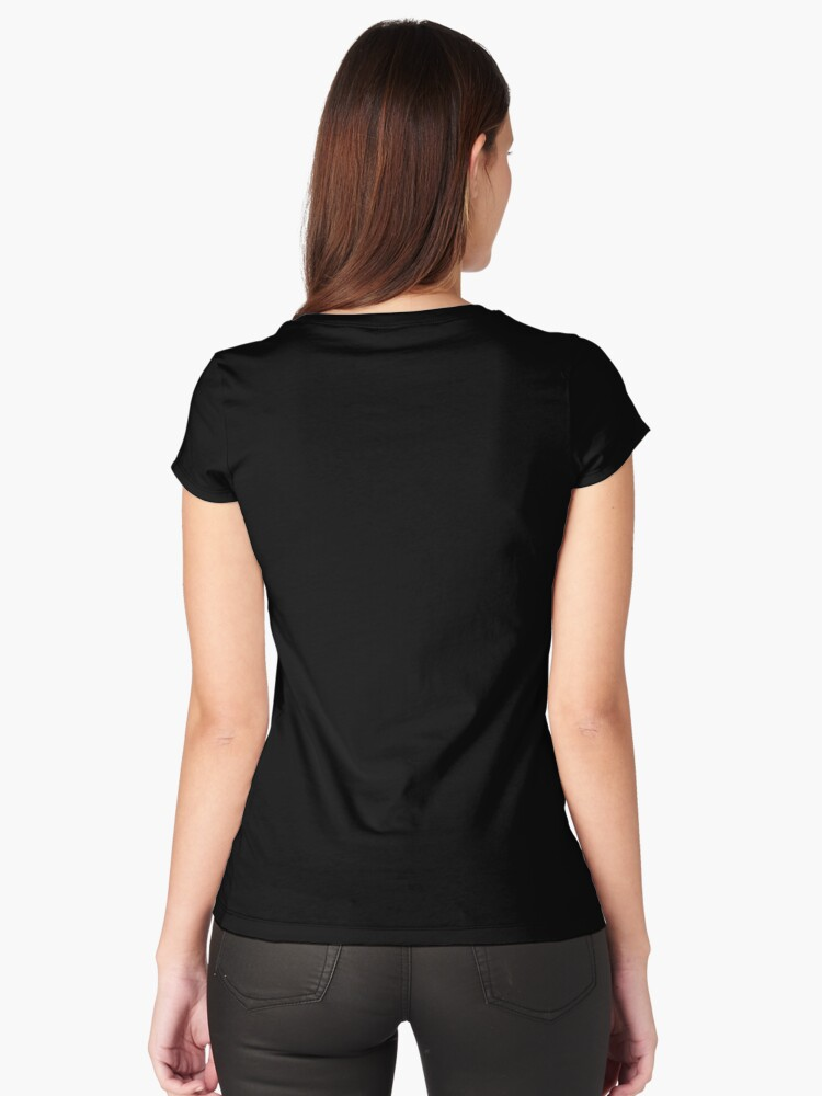 Alternate view of Big Hair Dont Care Funny Hair Volume No Control Novelty Quote Fitted Scoop T-Shirt