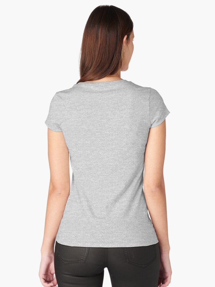 Alternate view of Boxer Dog Drawing Fitted Scoop T-Shirt