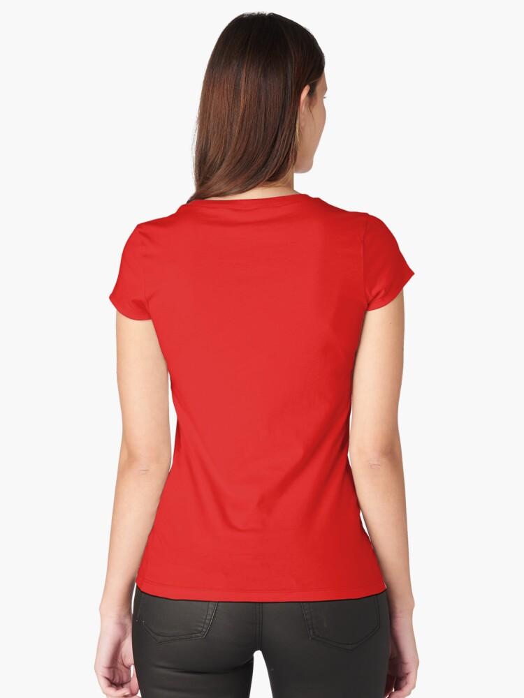 Alternate view of Girl Boss! #girlboss Fitted Scoop T-Shirt