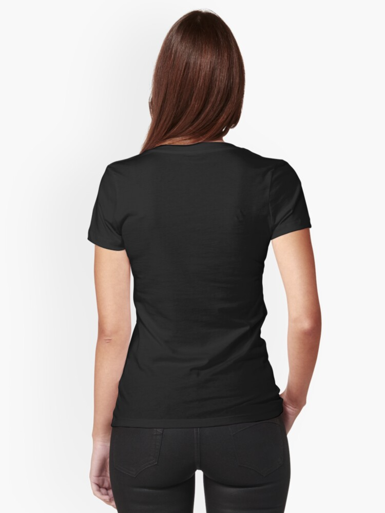 Alternate view of Wednesday Addams Fallen Witch Angel Fitted V-Neck T-Shirt