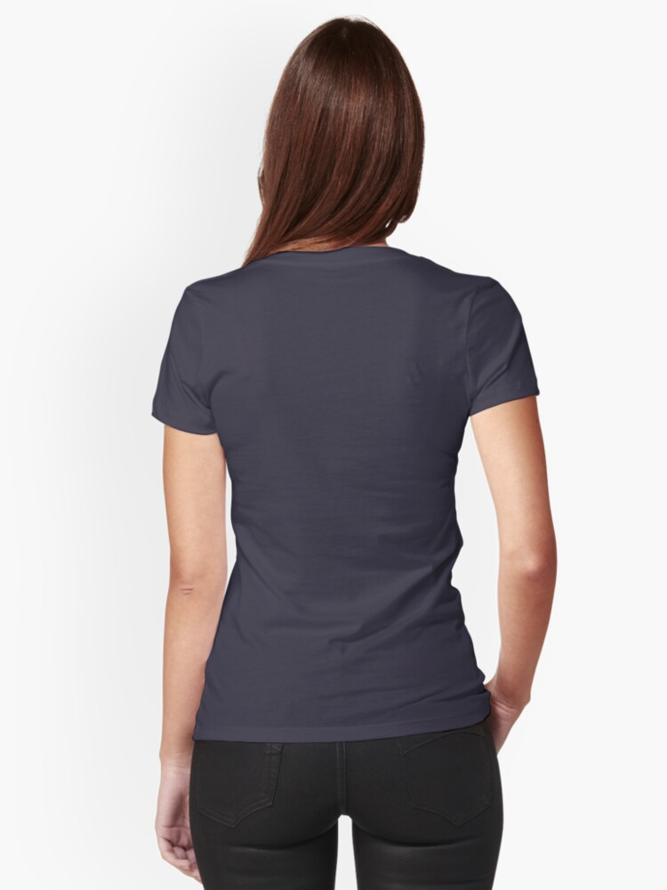 Alternate view of Border Collie Fitted V-Neck T-Shirt