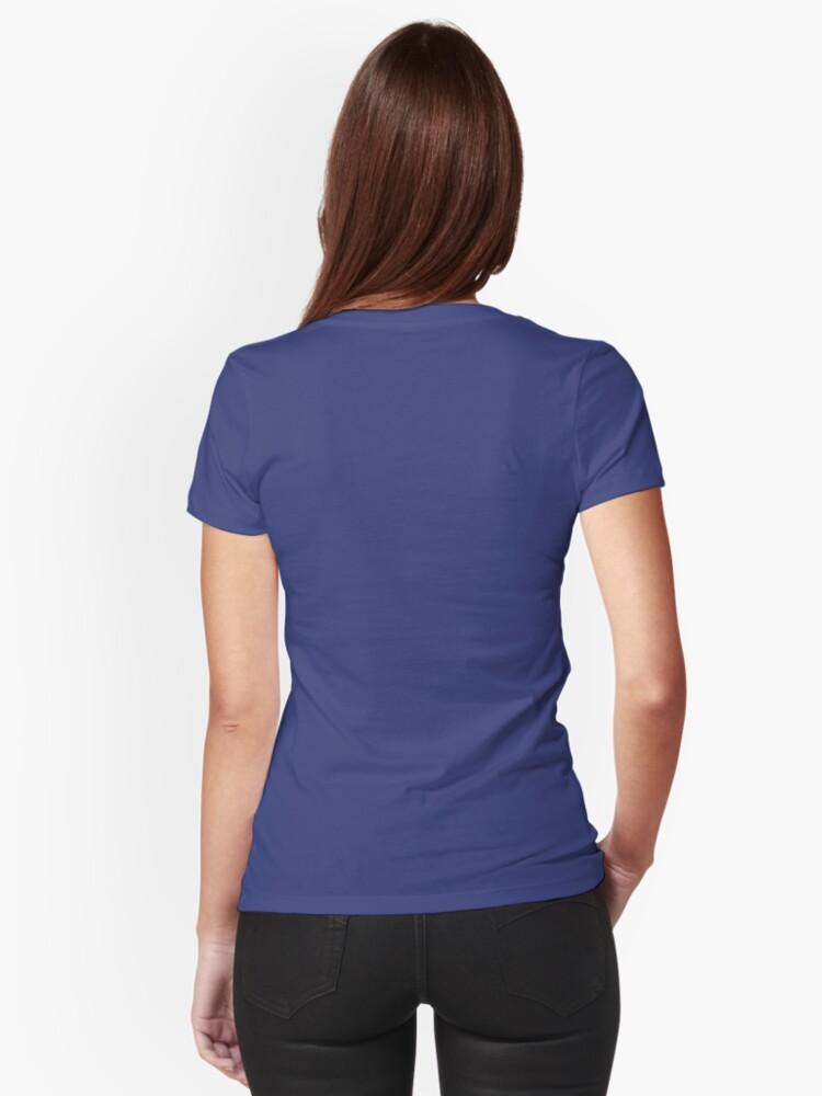 Alternate view of Jess.Travel White Logo Fitted V-Neck T-Shirt