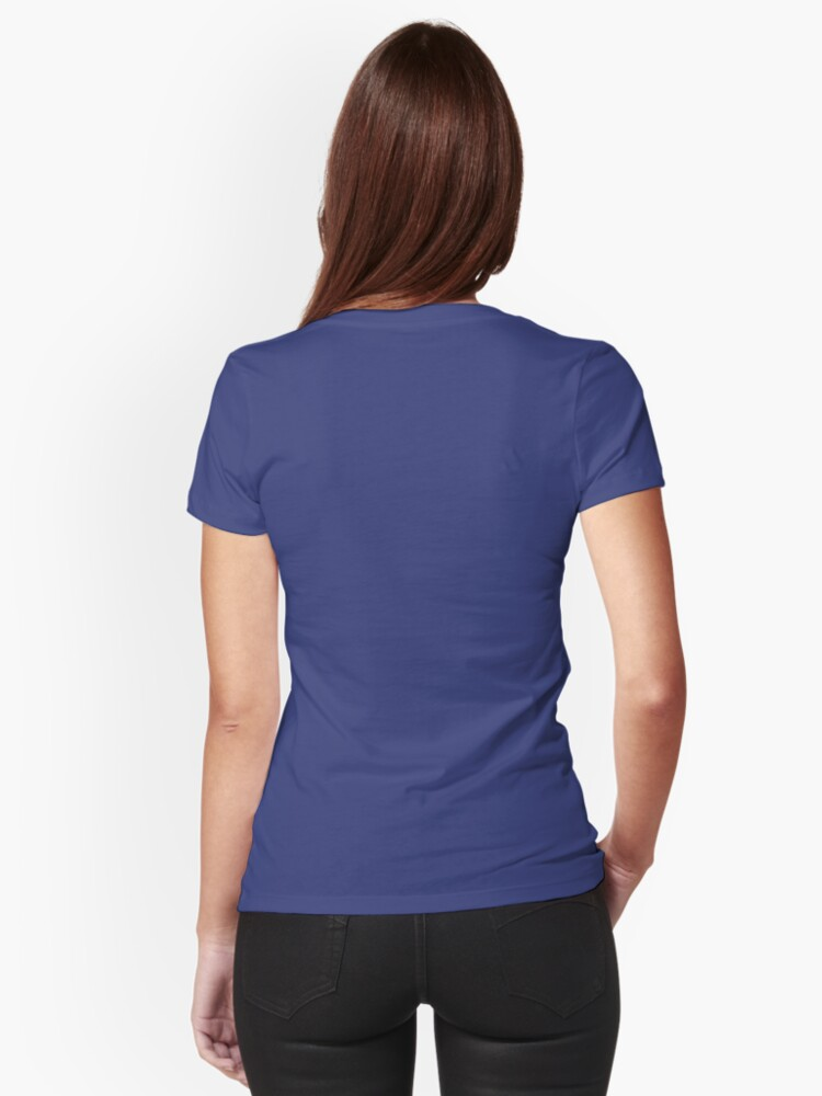 Alternate view of Buick Electra in Blue Electric Fitted V-Neck T-Shirt