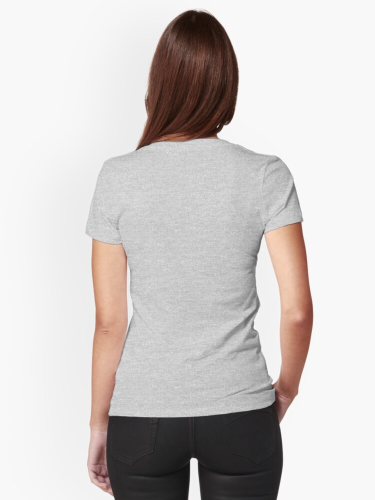 Alternate view of Regal Tuxedo Kitty Fitted V-Neck T-Shirt