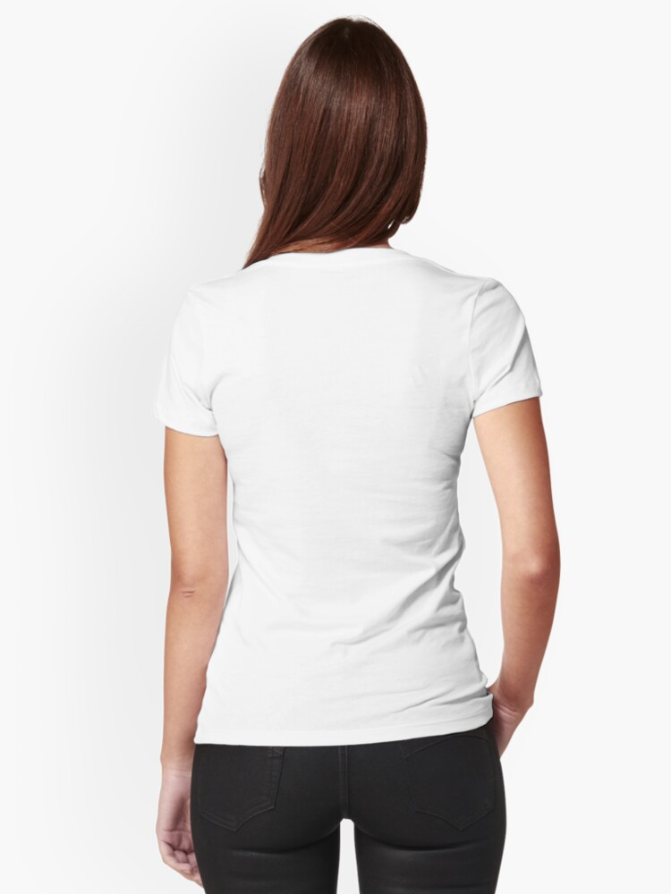 Alternate view of Antique Tulip Fitted V-Neck T-Shirt