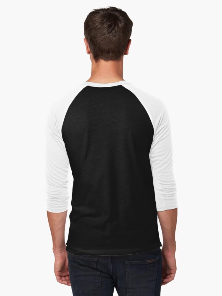 Alternate view of The Purple Husky Baseball ¾ Sleeve T-Shirt