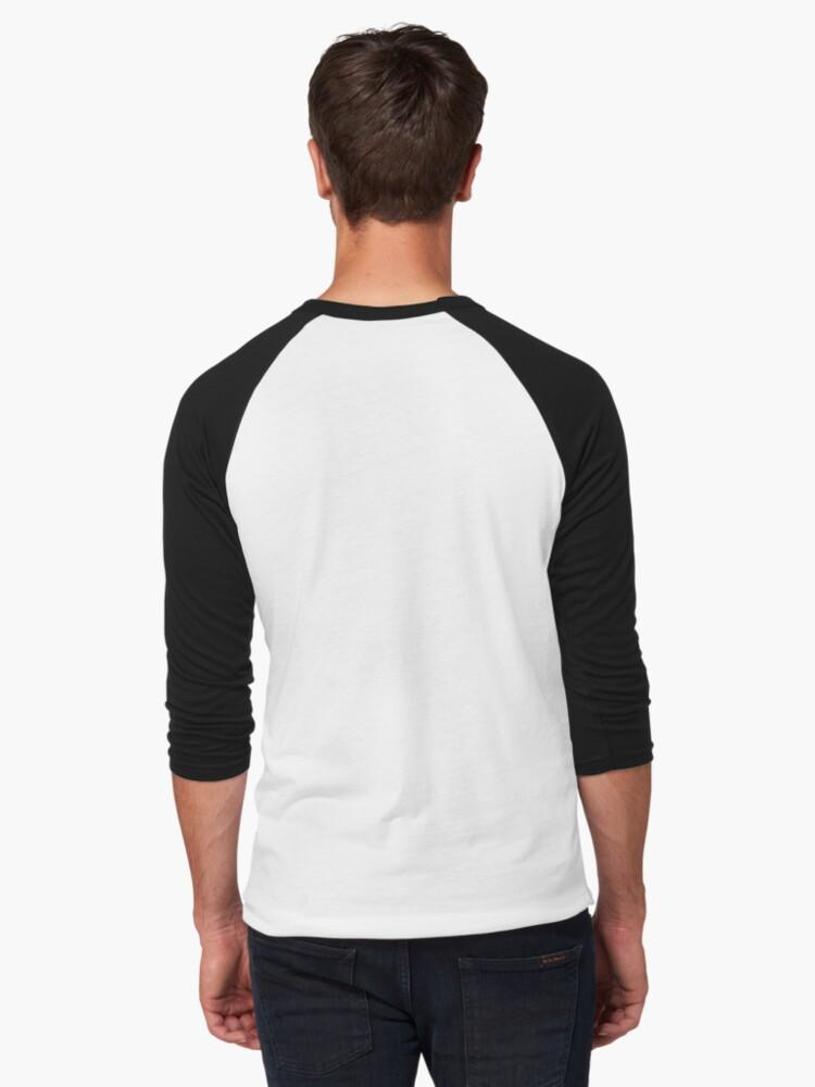 Alternate view of sneaky cat Baseball ¾ Sleeve T-Shirt