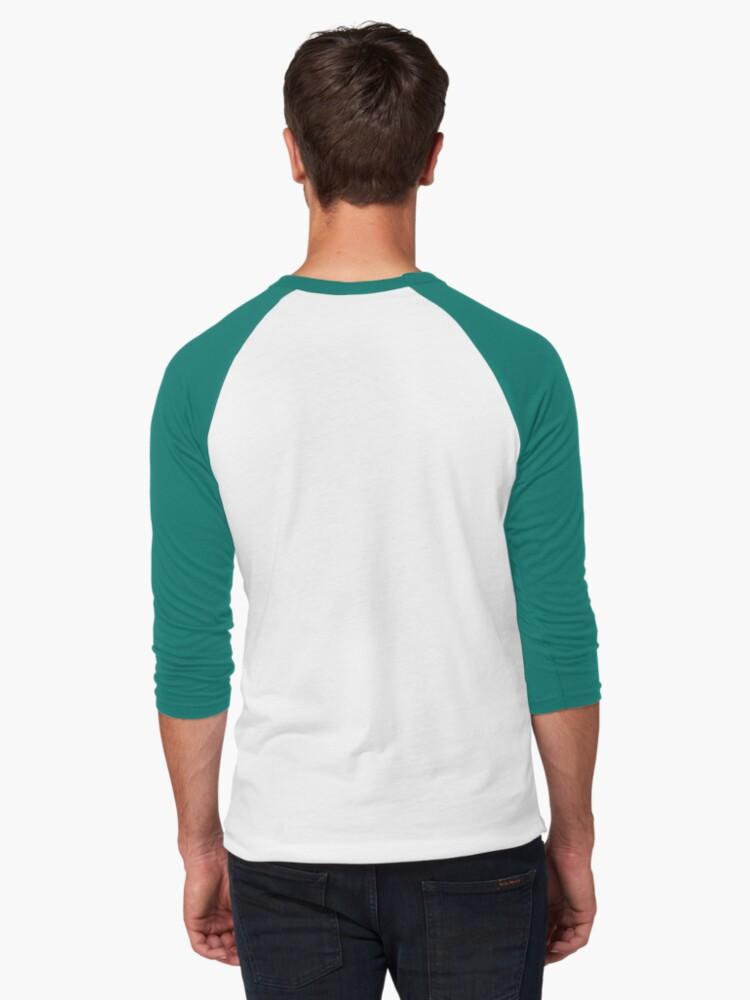 Alternate view of Badass Woman at Work Baseball ¾ Sleeve T-Shirt