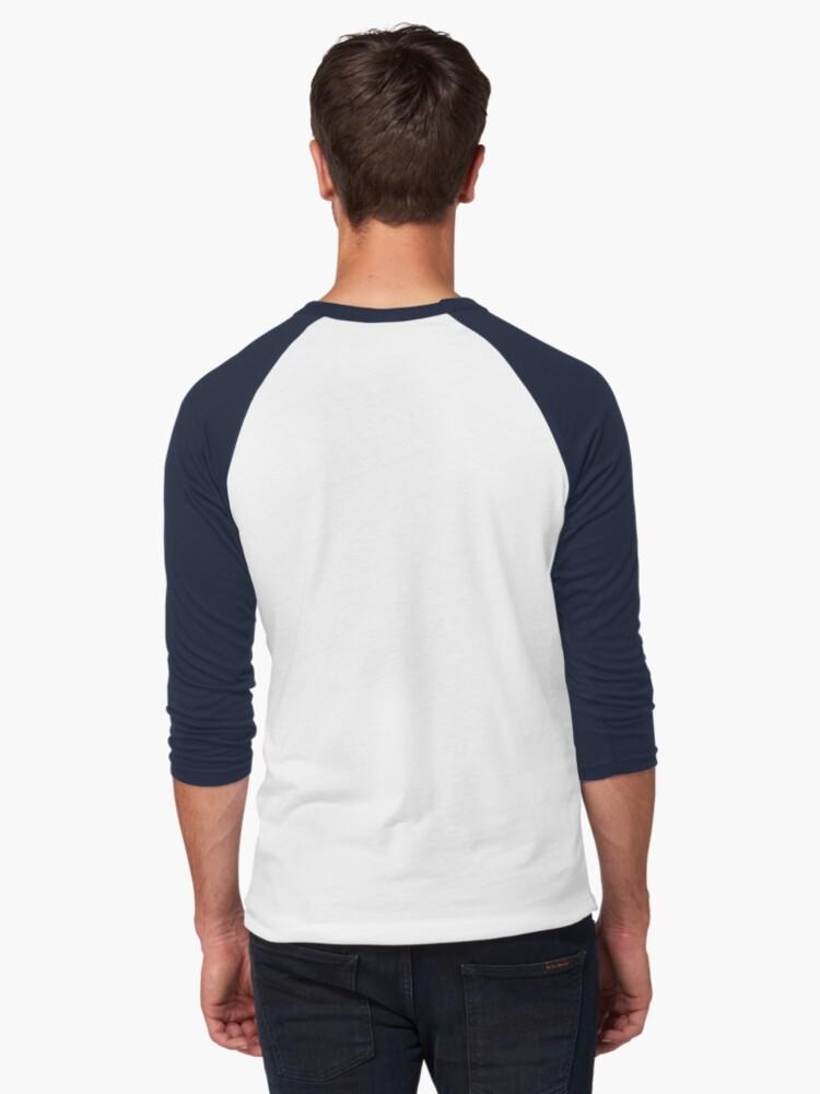 Alternate view of SKU546 Shibori Style - Blue Denim 2 Baseball ¾ Sleeve T-Shirt