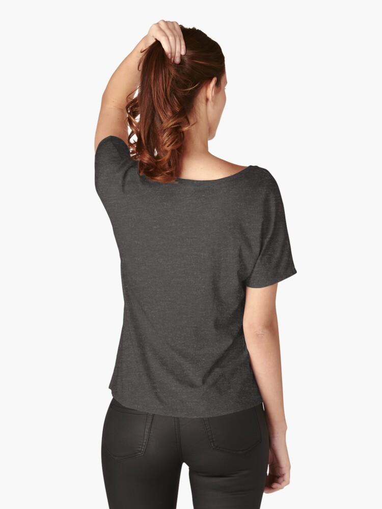 T-shirt coupe relax ''100% café et sarcasme': autre vue