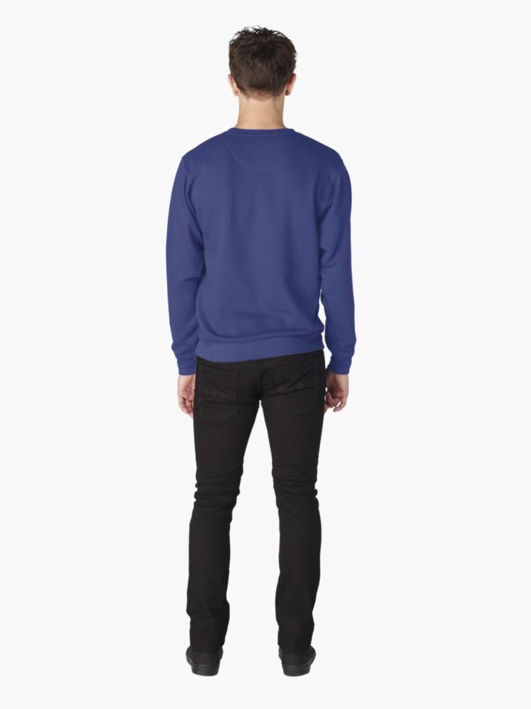 Alternate view of Frozen sea liquid lines and waves #DeepDream Pullover Sweatshirt