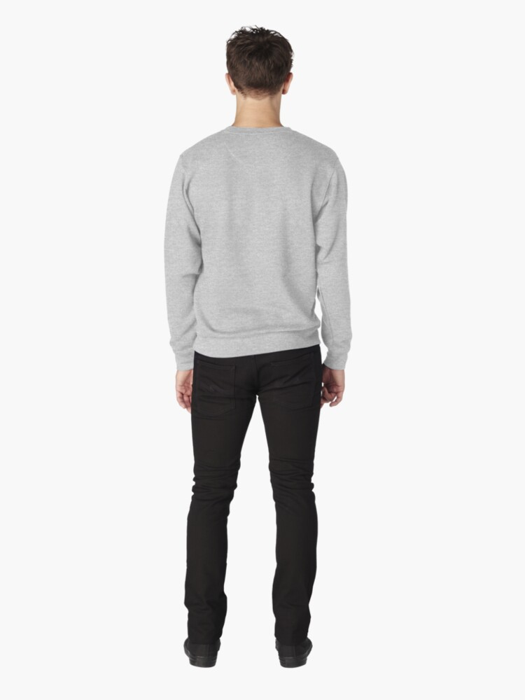 Alternate view of Hustle for that muscle in black and blue Pullover Sweatshirt