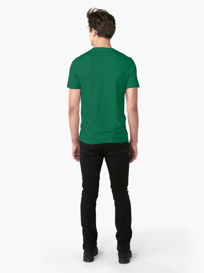 Alternate view of Romania map contour Slim Fit T-Shirt