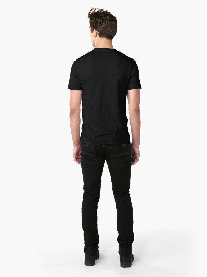 Alternate view of Back Off, I'm a Photographer-White Type Slim Fit T-Shirt