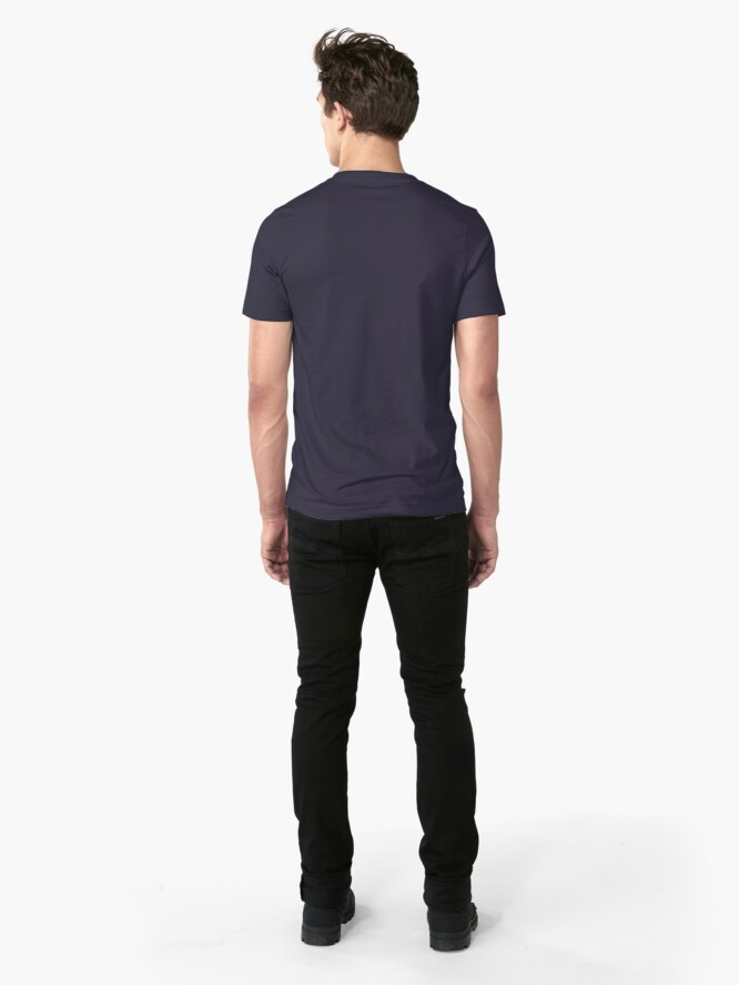 Alternate view of Two Teams: Crows Slim Fit T-Shirt