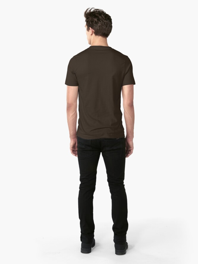 Alternate view of Calabash Pipe - Outline drawing Slim Fit T-Shirt