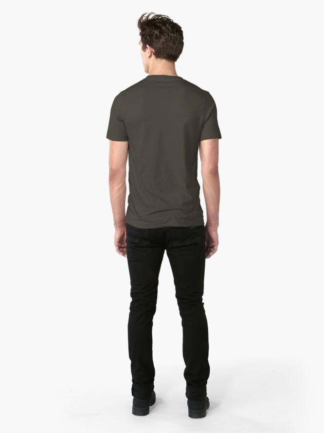 Alternate view of Dostoyevsky Inspirational Quote 1 Slim Fit T-Shirt