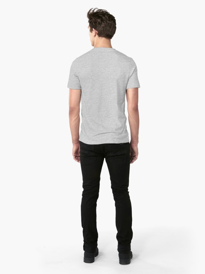 Alternate view of Nothing Wrong With Being Strong - Black Slim Fit T-Shirt