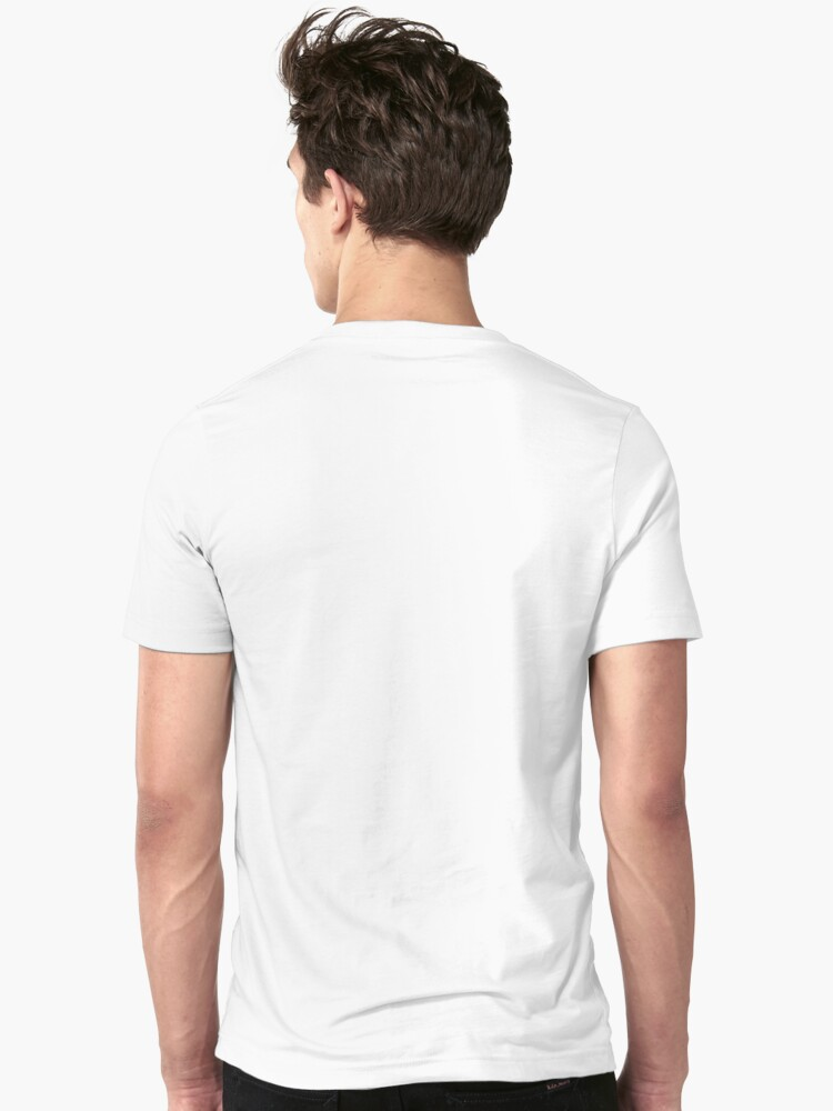 Alternate view of Your Gay Friend - Rainbow Script Centered Slim Fit T-Shirt