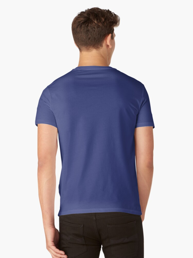 Alternate view of KC Ribs - Blue 2 V-Neck T-Shirt
