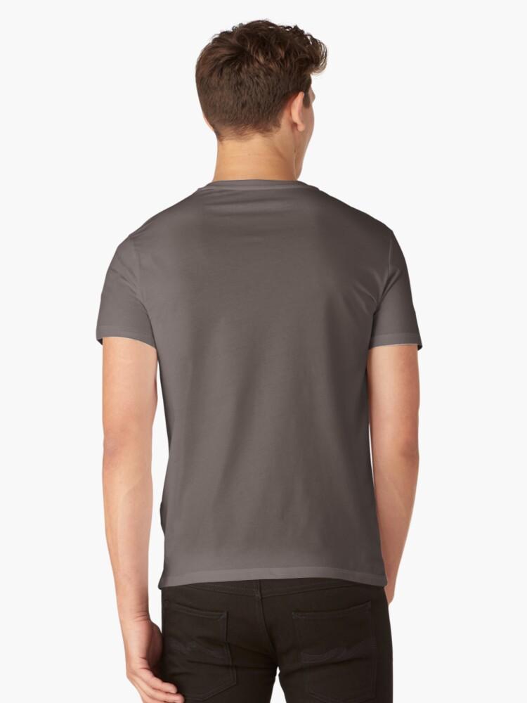 "Alternate view of crane ""balearica pavonina"" V-Neck T-Shirt"