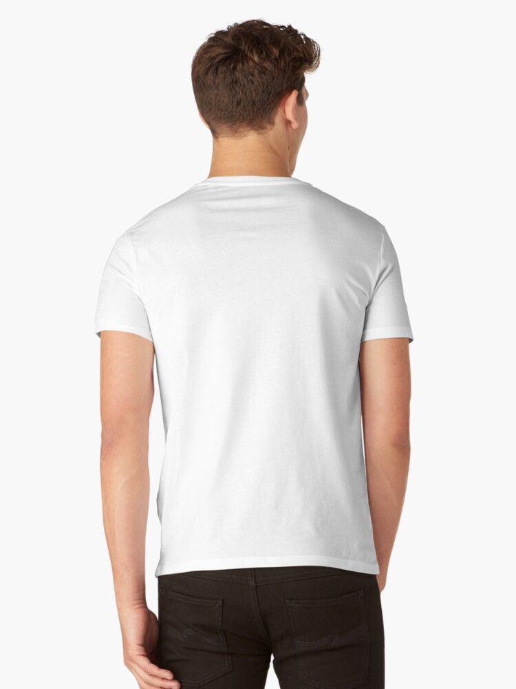 Alternate view of I love Trains V-Neck T-Shirt