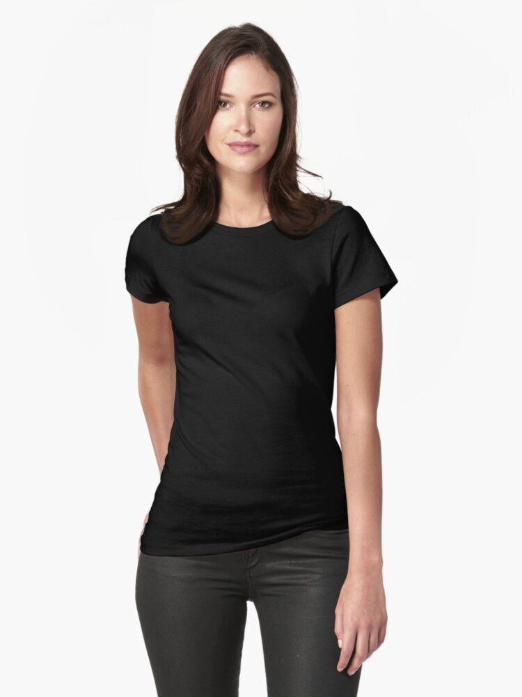 Alternate view of FEMINIST T-Shirt White on Black Fitted T-Shirt
