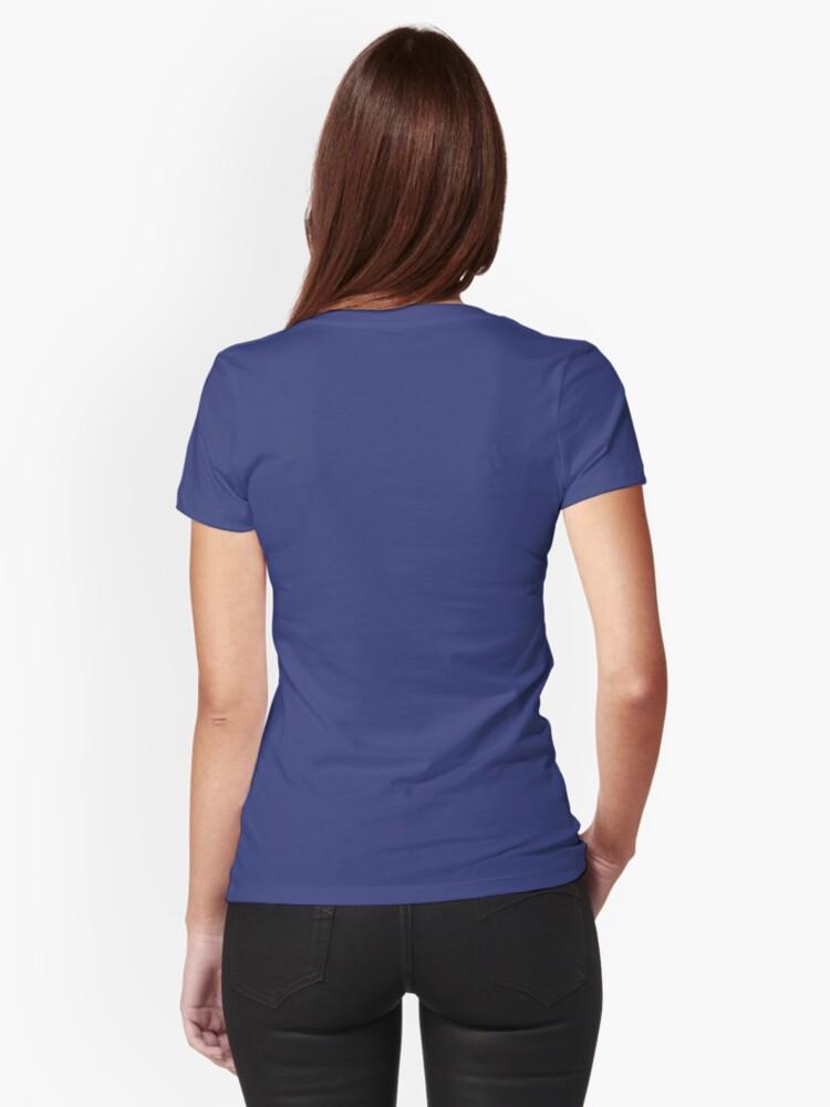 Alternate view of Ganbarimasu Fitted T-Shirt