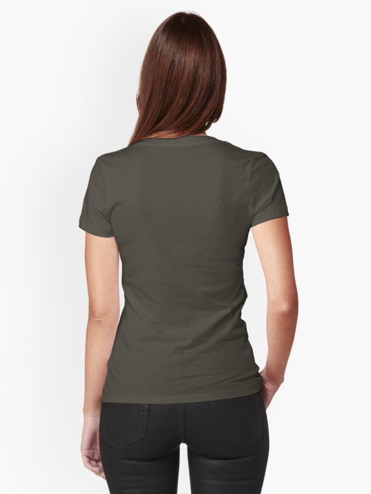 Alternate view of Red-Haired Girl Tee Fitted T-Shirt