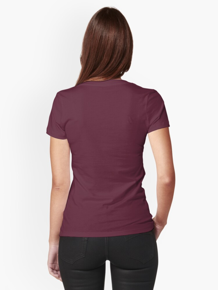 Alternate view of Witch on a broom Fitted T-Shirt